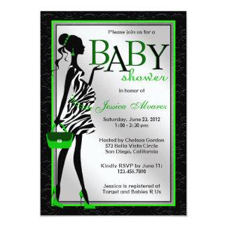 Fiesta de bienvenida al bebé moderna elegante invitación 12,7 x 17,8 cm