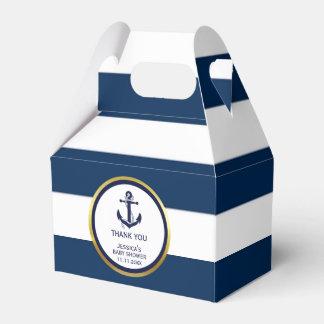 Fiesta de bienvenida al bebé náutica de encargo caja de regalos