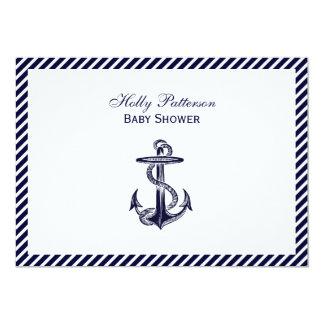Fiesta de bienvenida al bebé náutica de la raya 2H Invitación 12,7 X 17,8 Cm