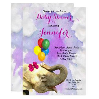 Fiesta de bienvenida al bebé neutral animal del invitación 12,7 x 17,8 cm