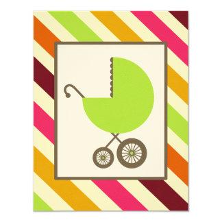 Fiesta de bienvenida al bebé neutral - carro y anuncio personalizado