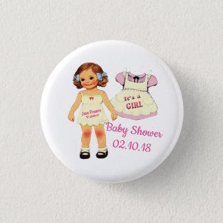 fiesta de bienvenida al bebé para el botón de