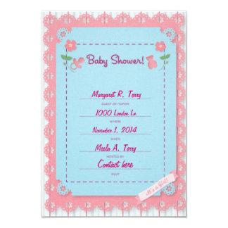 Fiesta de bienvenida al bebé para la invitación de invitación 8,9 x 12,7 cm