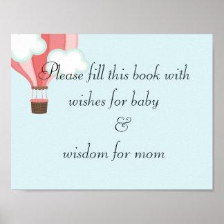 fiesta de bienvenida al bebé póster