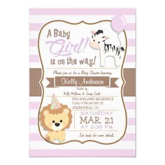 Fiesta de bienvenida al bebé púrpura en colores invitación 12,7 x 17,8 cm
