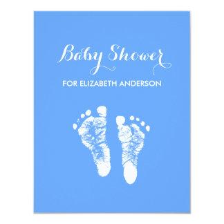Fiesta de bienvenida al bebé recién nacida azul invitación 10,8 x 13,9 cm