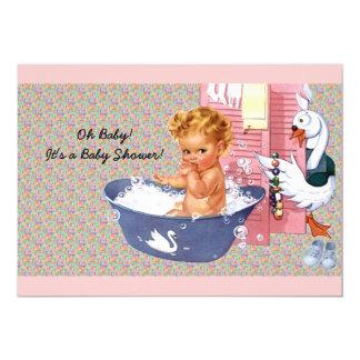 Fiesta de bienvenida al bebé retra de los años 40 invitación 12,7 x 17,8 cm