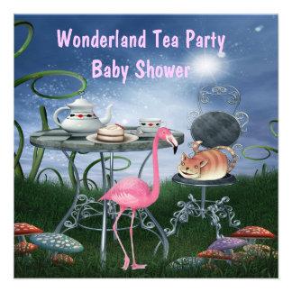 Fiesta de bienvenida al bebé rosada de la fiesta d invitacion personalizada
