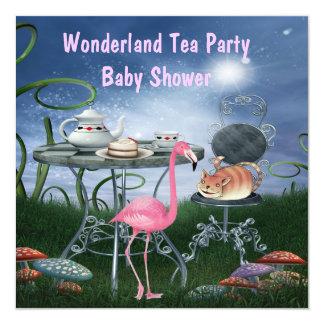 Fiesta de bienvenida al bebé rosada de la fiesta invitación 13,3 cm x 13,3cm
