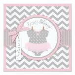 Fiesta de bienvenida al bebé rosada de la invitaciones personalizada