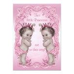 Fiesta de bienvenida al bebé rosada de princesa comunicados