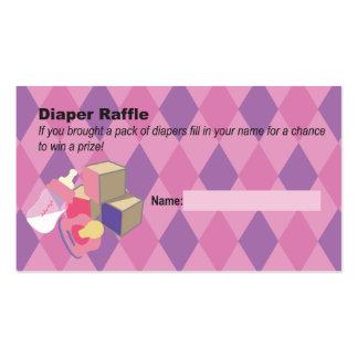 Fiesta de bienvenida al bebé rosada del boleto de tarjetas de visita