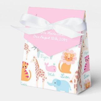 Fiesta de bienvenida al bebé rosada del tema del caja de regalos