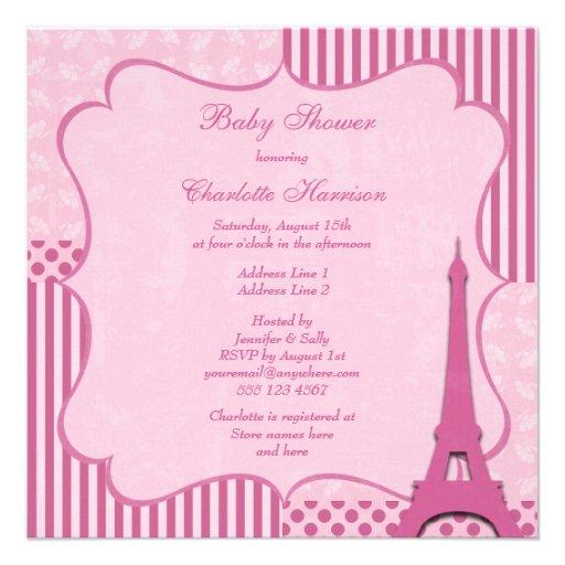 Fiesta de bienvenida al bebé rosada linda de la comunicados