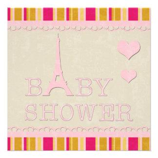 Fiesta de bienvenida al bebé rosada linda de la anuncios