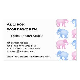 Fiesta de bienvenida al bebé rosada y azul del tarjetas de visita