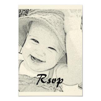 Fiesta de bienvenida al bebé RSVP Invitación 8,9 X 12,7 Cm