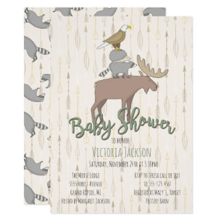 Fiesta de bienvenida al bebé rústica de los invitación 11,4 x 15,8 cm