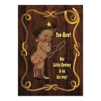 Fiesta de bienvenida al bebé rústica del vaquero invitación 12,7 x 17,8 cm