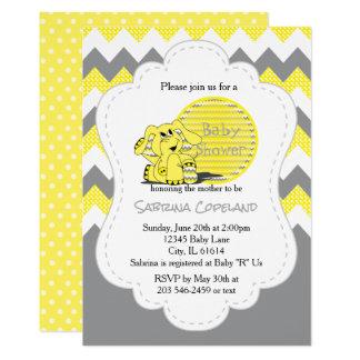 Fiesta de bienvenida al bebé tonta amarilla invitación 12,7 x 17,8 cm