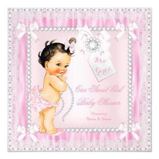 Fiesta de bienvenida al bebé triguena dulce del invitación 13,3 cm x 13,3cm