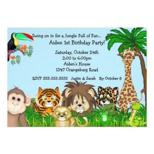 Fun Safari Jungle Party Invitation