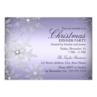 Fiesta de cena cristalino púrpura de navidad del invitaciones personales