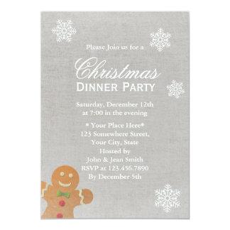 Fiesta de cena de plata de navidad de los copos de invitación 12,7 x 17,8 cm