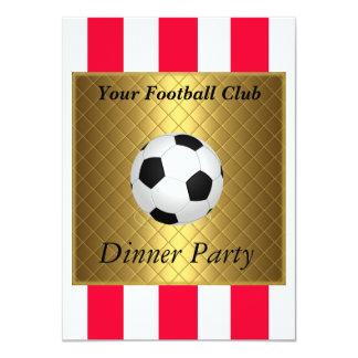 Fiesta de cena del fútbol del fútbol invitación 11,4 x 15,8 cm