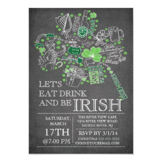 Fiesta de cena del golpe del día de St Patrick de Invitación 12,7 X 17,8 Cm