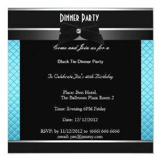 Fiesta de cena formal del cumpleaños del lazo invitación 13,3 cm x 13,3cm