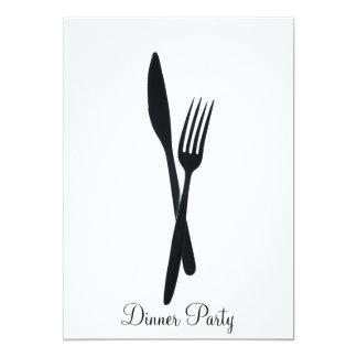 Fiesta de cena invitación 12,7 x 17,8 cm