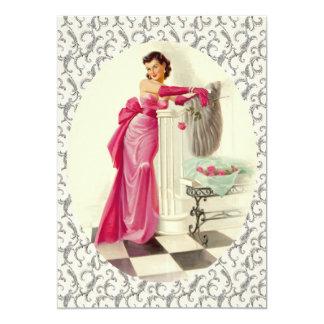 Fiesta de cena retro de los años 50 invitación 12,7 x 17,8 cm