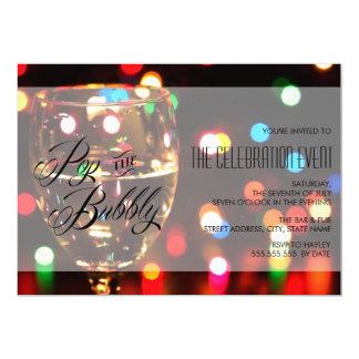 Fiesta de Champán de las luces de Bokeh de la Invitación 12,7 X 17,8 Cm