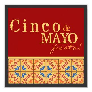 ¡Fiesta de Cinco de Mayo! Invitación feliz de la