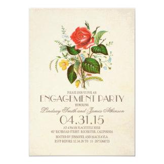 fiesta de compromiso clásico de la flor de la invitación 12,7 x 17,8 cm