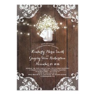 Fiesta de compromiso de madera del granero del invitación 12,7 x 17,8 cm