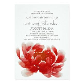 fiesta de compromiso del flor de la flor de la invitación 12,7 x 17,8 cm