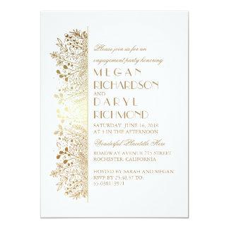 Fiesta de compromiso elegante de la respiración invitación 12,7 x 17,8 cm