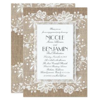 Fiesta de compromiso elegante del boda de la invitación 12,7 x 17,8 cm