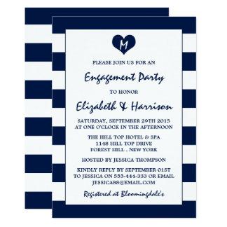 Fiesta de compromiso elegante moderno de los invitación 12,7 x 17,8 cm