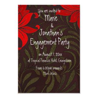 Fiesta de compromiso floral de los lirios del invitacion personalizada
