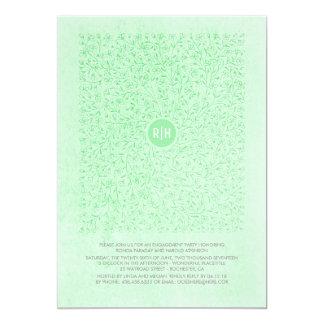 Fiesta de compromiso floral del vintage de la invitación 12,7 x 17,8 cm