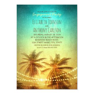 Fiesta de compromiso hawaiano de la playa de la invitación 12,7 x 17,8 cm