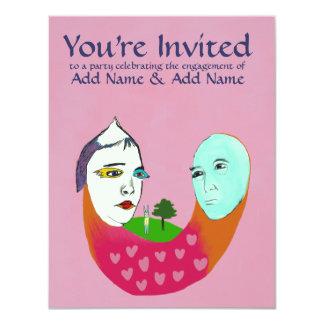 Fiesta de compromiso invitación 10,8 x 13,9 cm