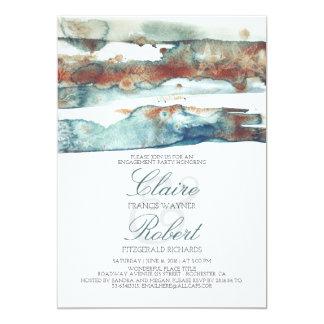 Fiesta de compromiso moderno del chapoteo de la invitación 12,7 x 17,8 cm