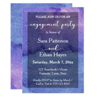Fiesta de compromiso púrpura de la mandala de la invitación 12,7 x 17,8 cm