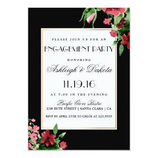 Fiesta de compromiso rojo romántico del capullo de invitación 12,7 x 17,8 cm