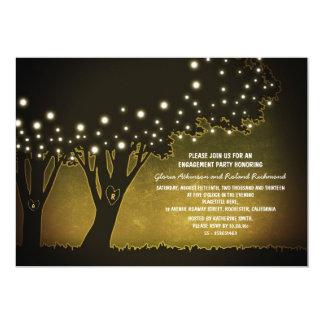 fiesta de compromiso rústico con los árboles de comunicado personal