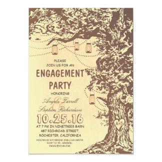 Fiesta de compromiso rústico de los tarros del invitacion personalizada
